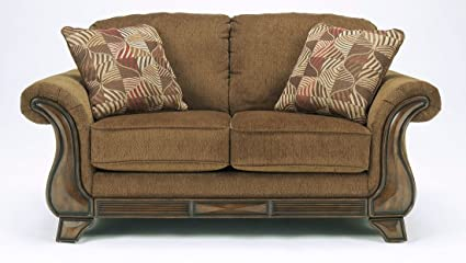 Merveilleux Ashley Furniture Signature Design   Montgomery Loveseat Sofa   Traditional  Style Couch   Mocha Brown
