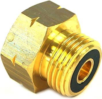 Drehmeister Adaptador de depósito con Boquilla integrada para el llenado de Botellas de Gas (11kg, 33kg)
