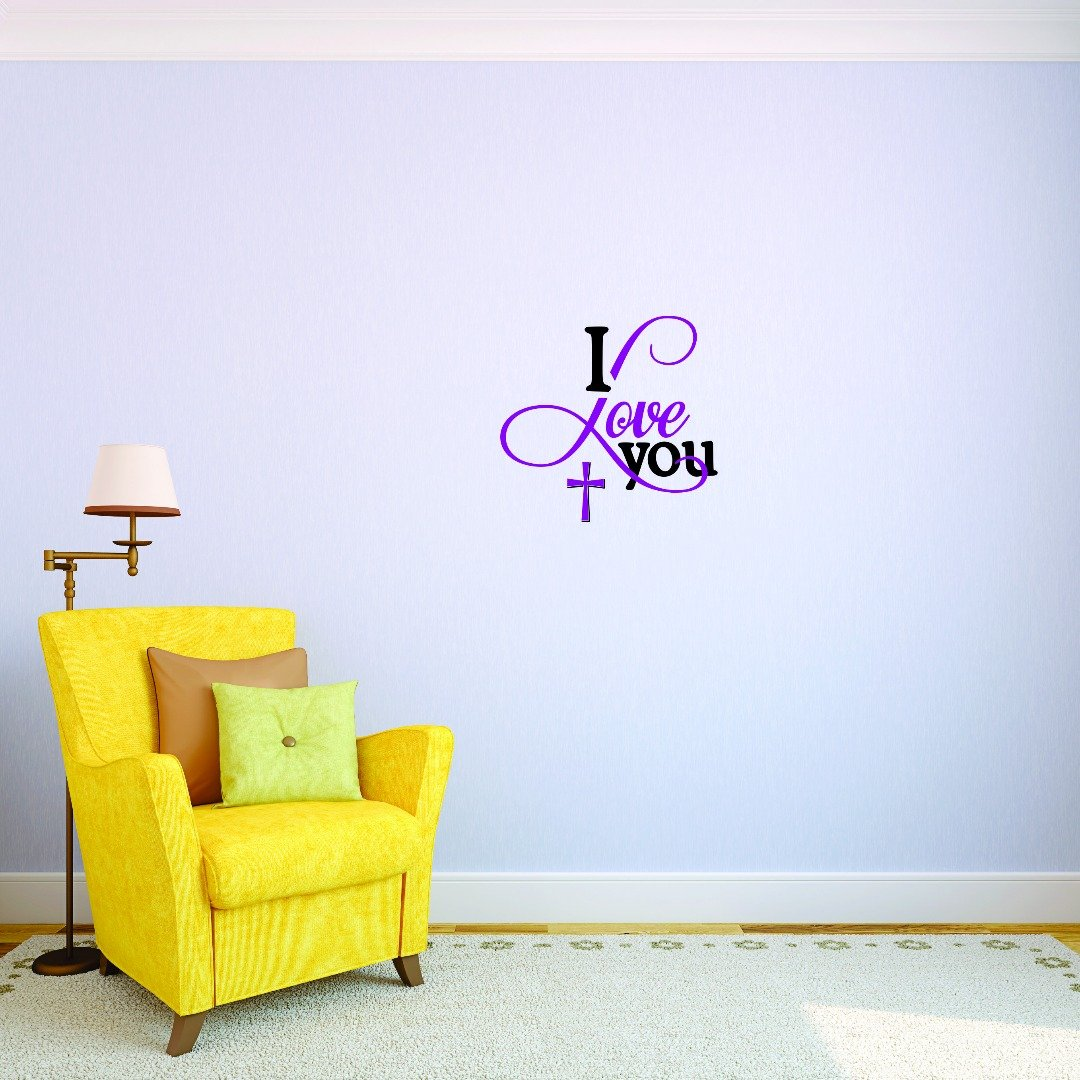 Design with Vinyl 4 Jer 1737 4 Hot New Decals I Love You Wall Art Size x 20 Inches Color 20 x 20 Multi