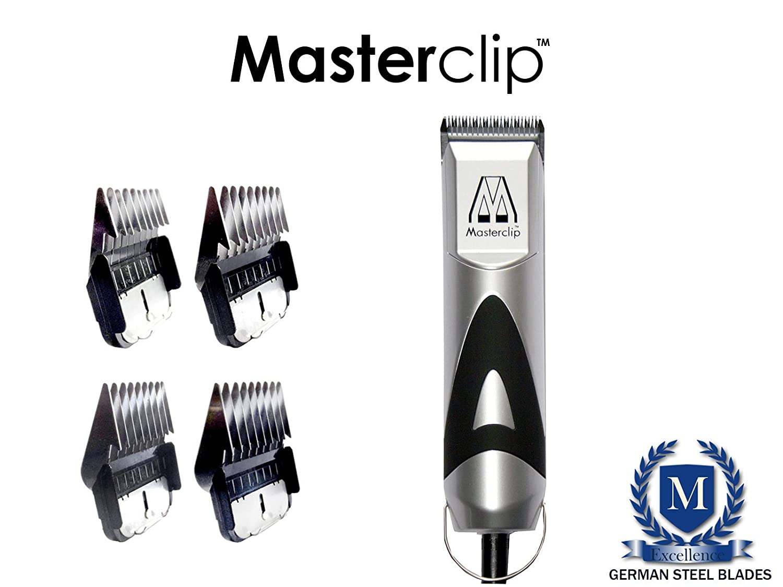 Masterclip Pedigree Pro Professional Dog Clipper Set with 4 Metal Comb Guards
