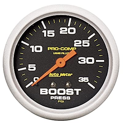 Auto Meter 5404 Pro-Comp Liquid-Filled Mechanical Boost Gauge: Automotive