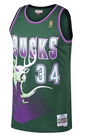 9bbbaaf89 ... where can i buy ray allen milwaukee bucks mitchell ness nba throwback  jersey green 6f8ba 0a4cc