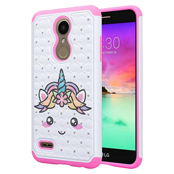 outlet store 5f045 ff230 LG K30 Case (X410), LG Premier Pro LTE Case, LG K10 2018 Case (MS425) with  [HD Screen Protector] Diamond Bling Hybrid Protective Glitter LG K30 Phone  ...