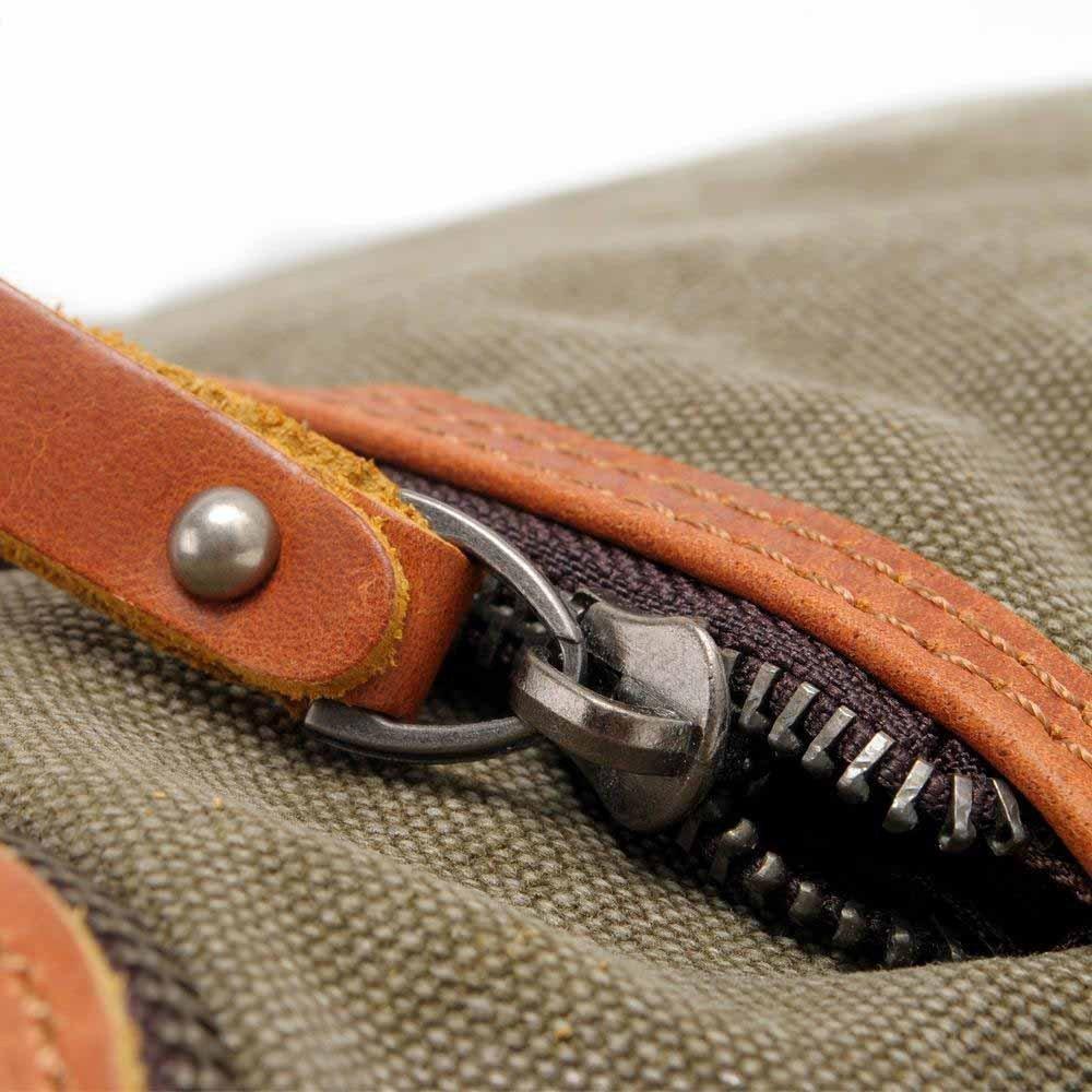 Kaxima Canvas Bag Leisure single shoulder bag man bag with leather messenger bag female backpack neutral bag