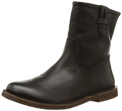 74897d40e4d45a Kickers 445050-50 femmes noir cuir Bottine, EU 42: Amazon.fr ...