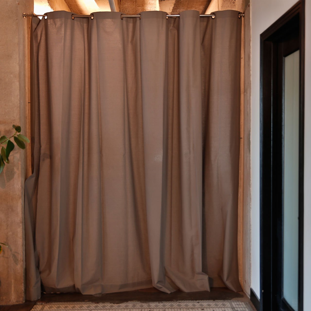 Portable privacy curtains - Amazon Com Roomdividersnow Muslin Room Divider Curtain 8ft Tall X 10ft Wide Gray Kitchen Dining