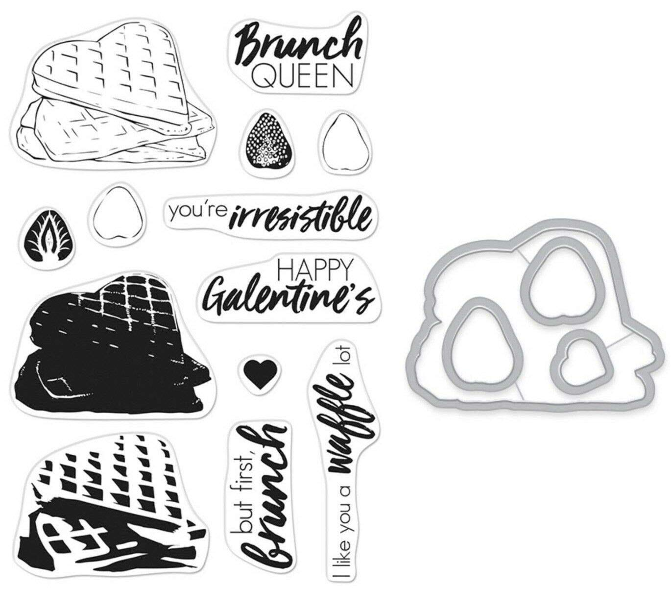 ShopForAllYou Stamping & Embossing (Stamp & Die Bundle)''Color Layering Waffles'' Clear Stamps Only or Stamp
