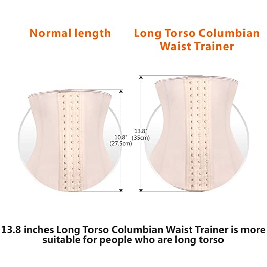 09bc15e204 SHAPERX Women Latex Columbian Waist Trainer Corset Long Torso Weight Loss 3  Hook at Amazon Women s Clothing store