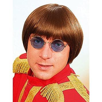 NET TOYS Peluca para Disfraz de Hombre, diseño de Los Beatles, Color marrón