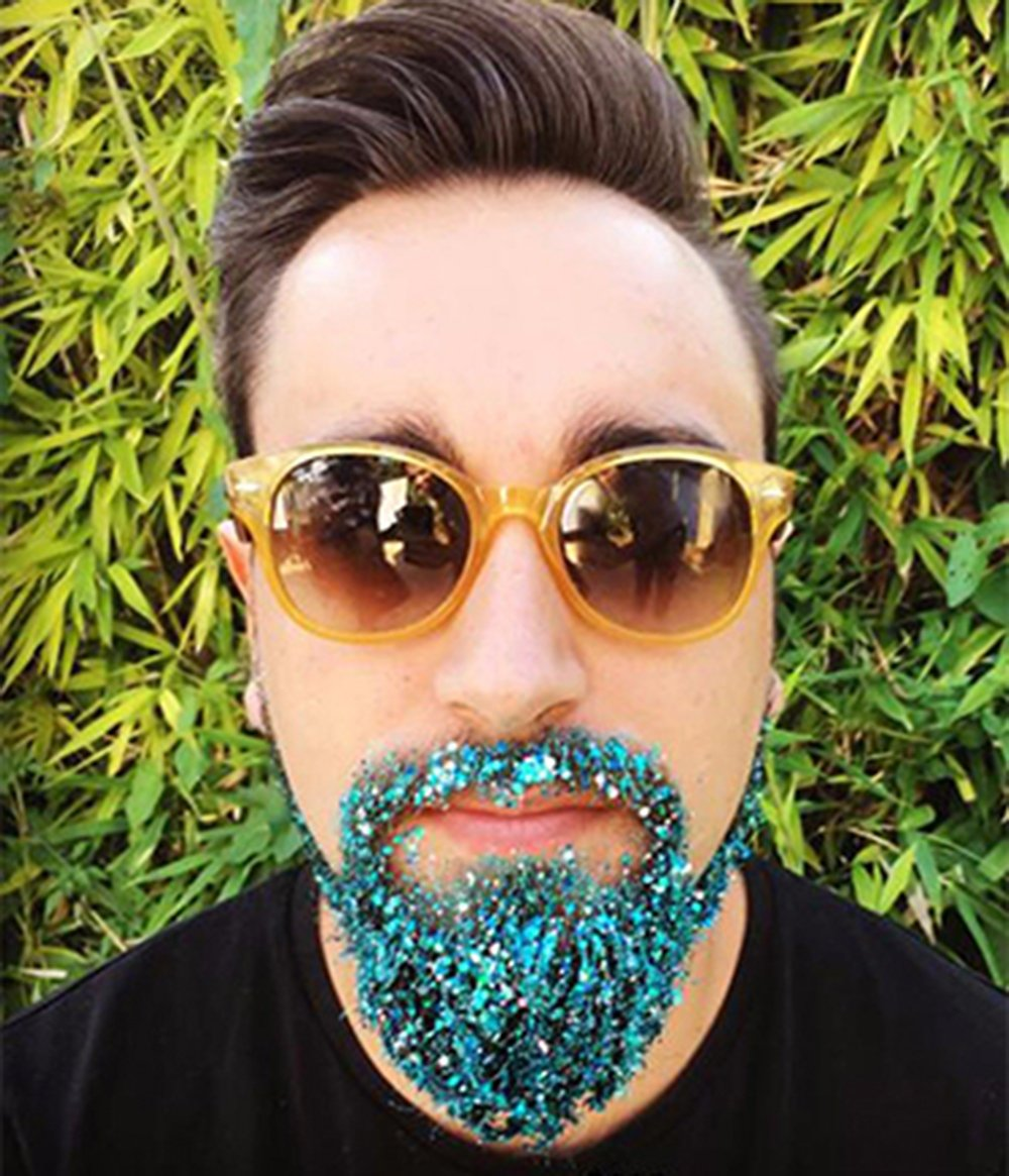 COKOHAPPY 8 Boxes Sky Blue Glitter Mermaid Dreams Ultra-thin Festival Holographic Cosmetic Chunky Sequins Iridescent Flakes Hexagon Tips Mixed Paillette Face Body Hair Nails Cosmetic Glitter by COKOHAPPY (Image #2)