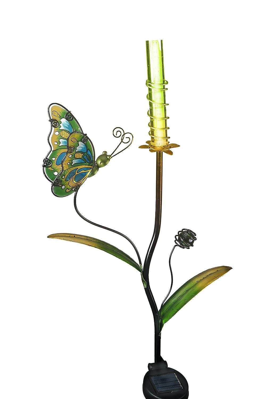 Transcontinental Group Deko-Schmetterling mit Farbwechsel, solarbetrieben, mit LED, Grün