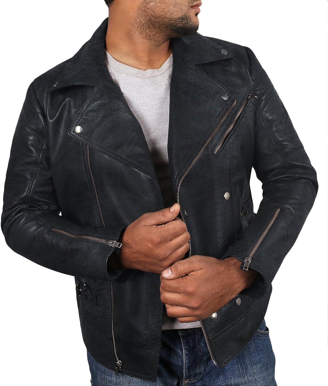 Laverapelle Mens Genuine Lambskin Leather Jacket Black, Double Rider Jacket 1501142