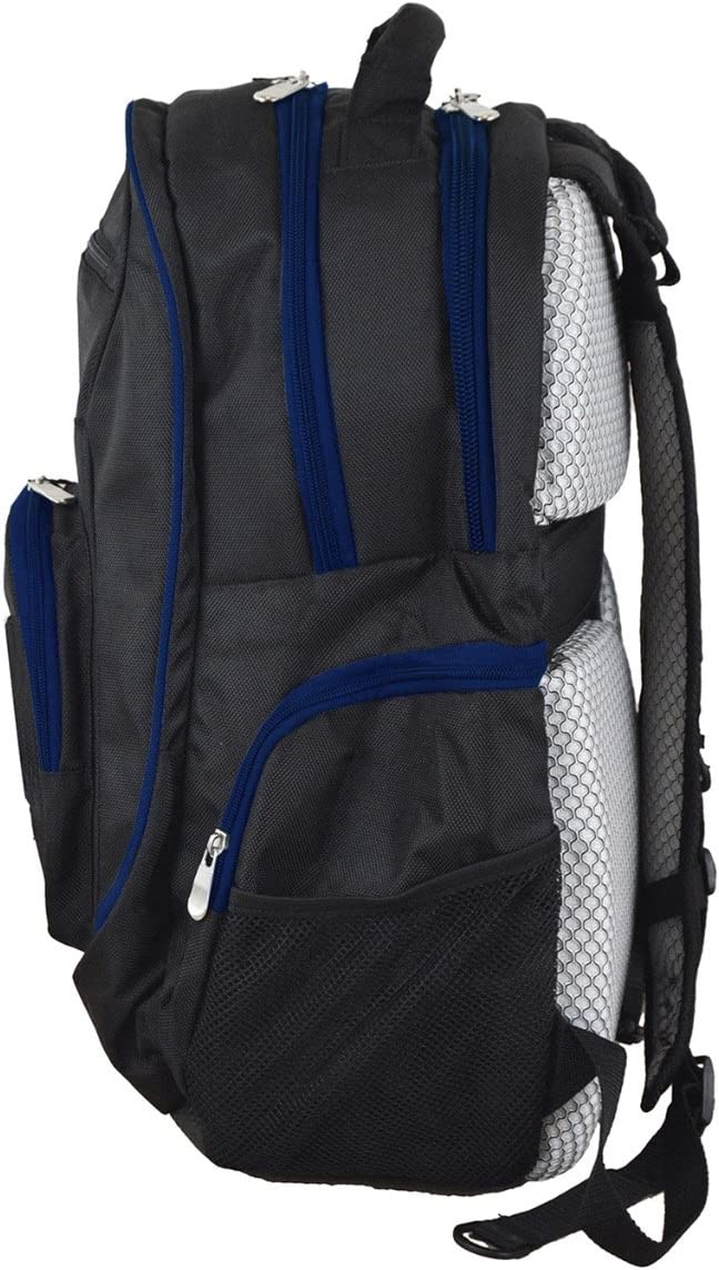 24 x 15 Navy Denco NCAA Navy Midshipmen Deluxe 2-Piece Backpack /& Carry-On Set