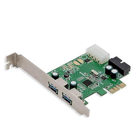 Syba SD-PEX20139 2 Port USB 3.0 PCIe 2.0 x1 Card Green metallic