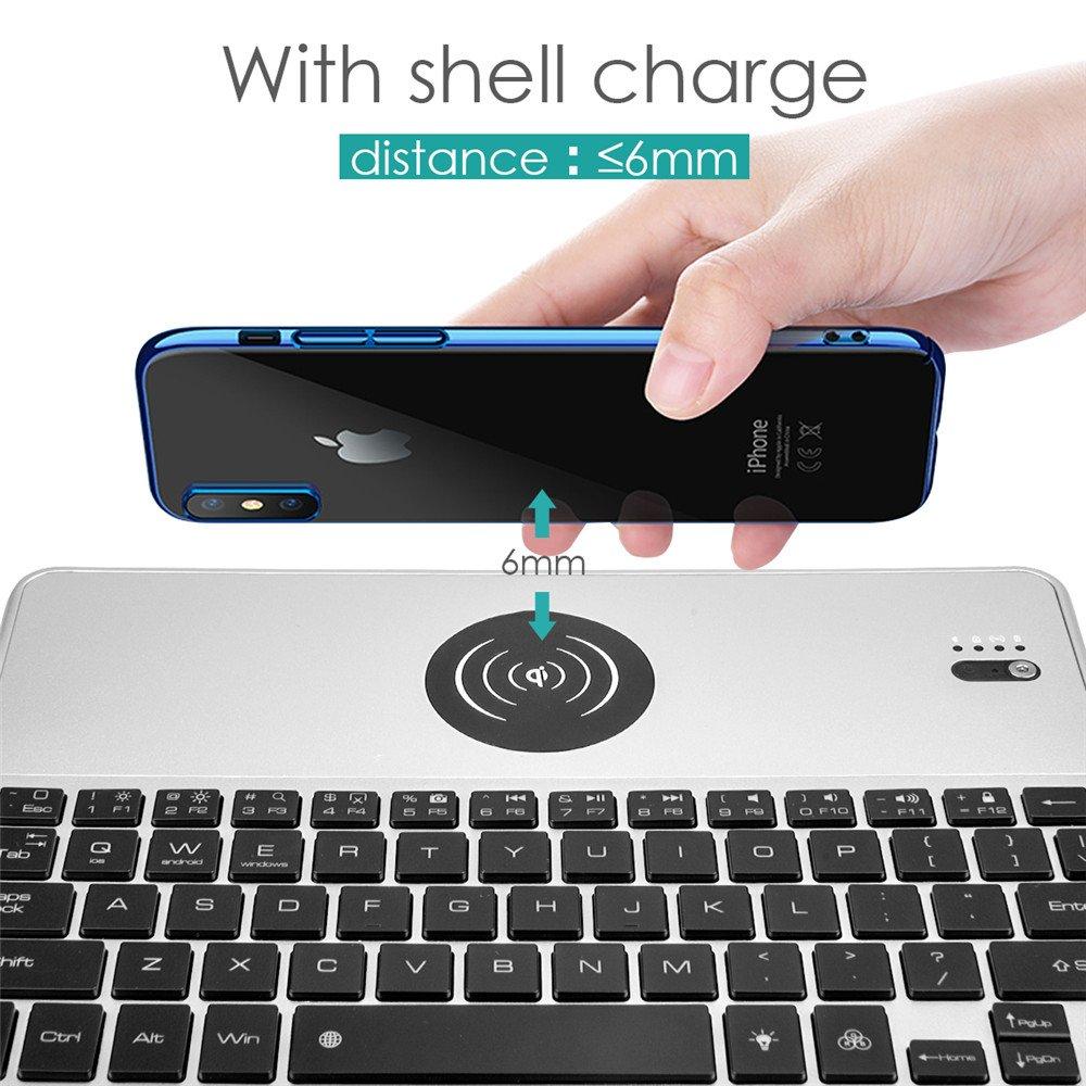 Qi ワイヤレス充電付き Bluetoothキーボード
