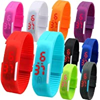 Pappi Boss Haunt All Working Kid's Favourite LED Bands (Multicolour) Set of 6