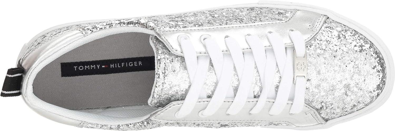 cb1442ed Amazon.com | Tommy Hilfiger Women's Lamzey 2 Silver 10 M US M | Fashion  Sneakers