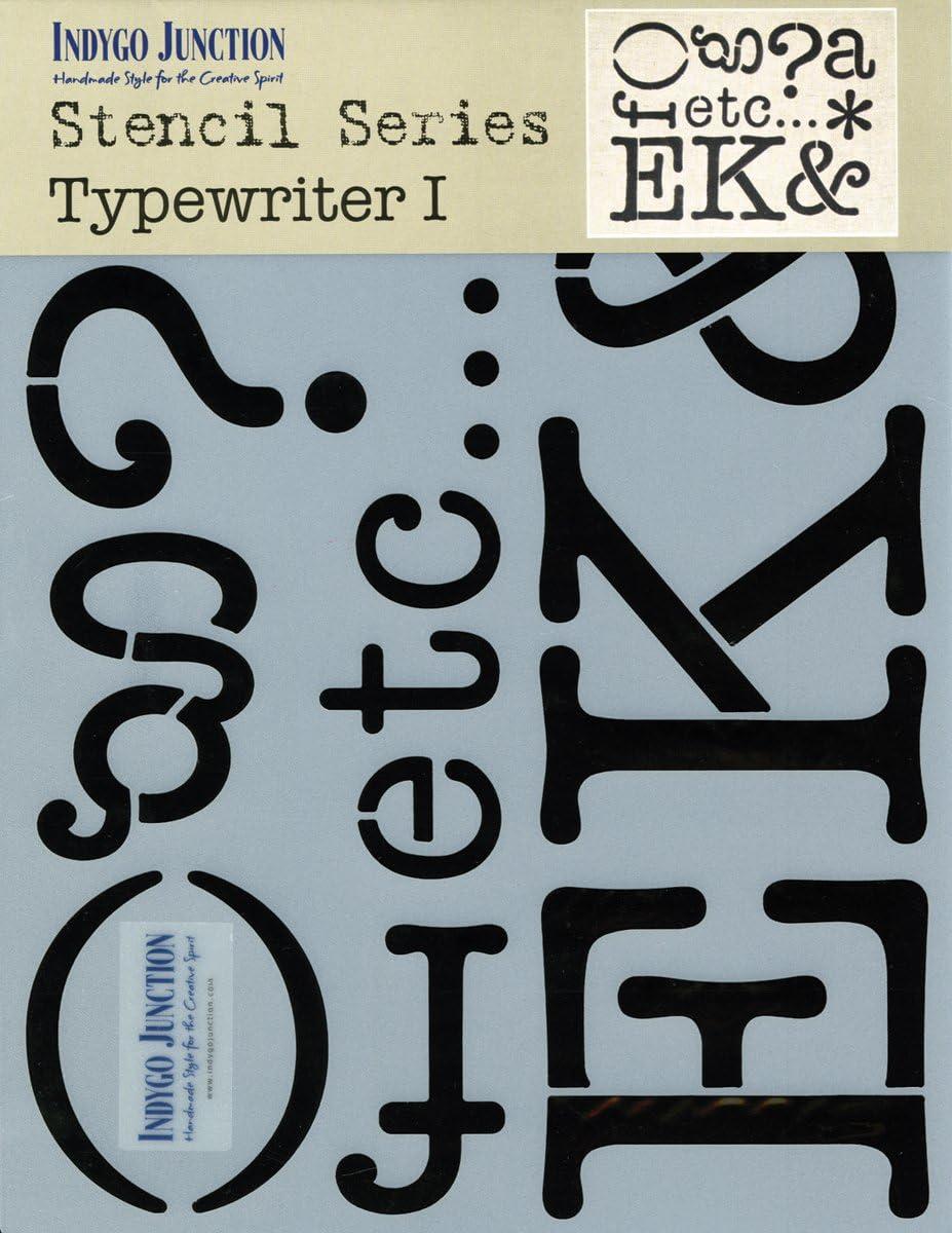 Typewriter 1 Indygo Junction-Stencil Series
