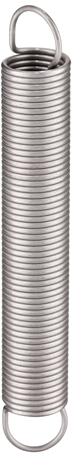 Associated Spring Raymond T41770 Extension Spring 302 Stainless Steel Metric 12 mm OD 1.1 mm Wire Size 60.8 mm Free Length 166.8 mm Extended Length 29.8 N Load Capacity 0.23 N mm Spring Rate Pack of 10