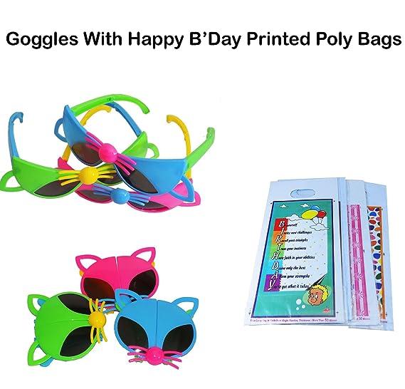 Brown Leaf Kids Goggles Cartoon Design Sunglasses Best Birthday Return Gifts Favourite Googles Set