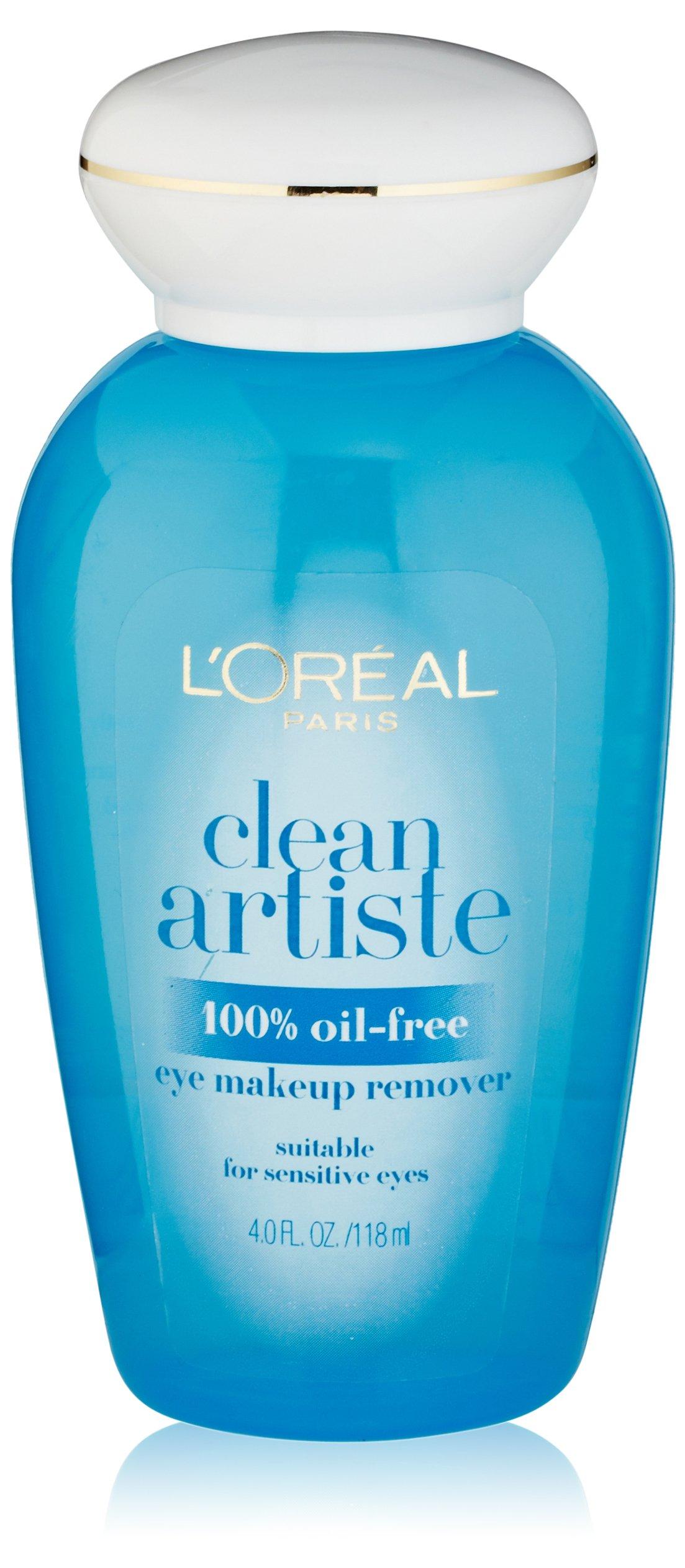 L'Oréal Paris Clean Artiste Oil Free Eye Makeup Remover, 4 fl. oz.