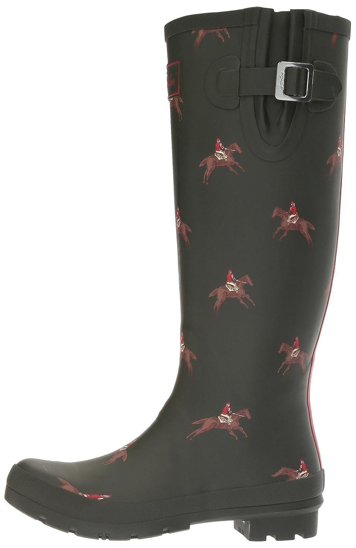 Joules Women's Welly Print Rain Boot B01N8POQT7 7 B(M) US|Olive Horse Rider