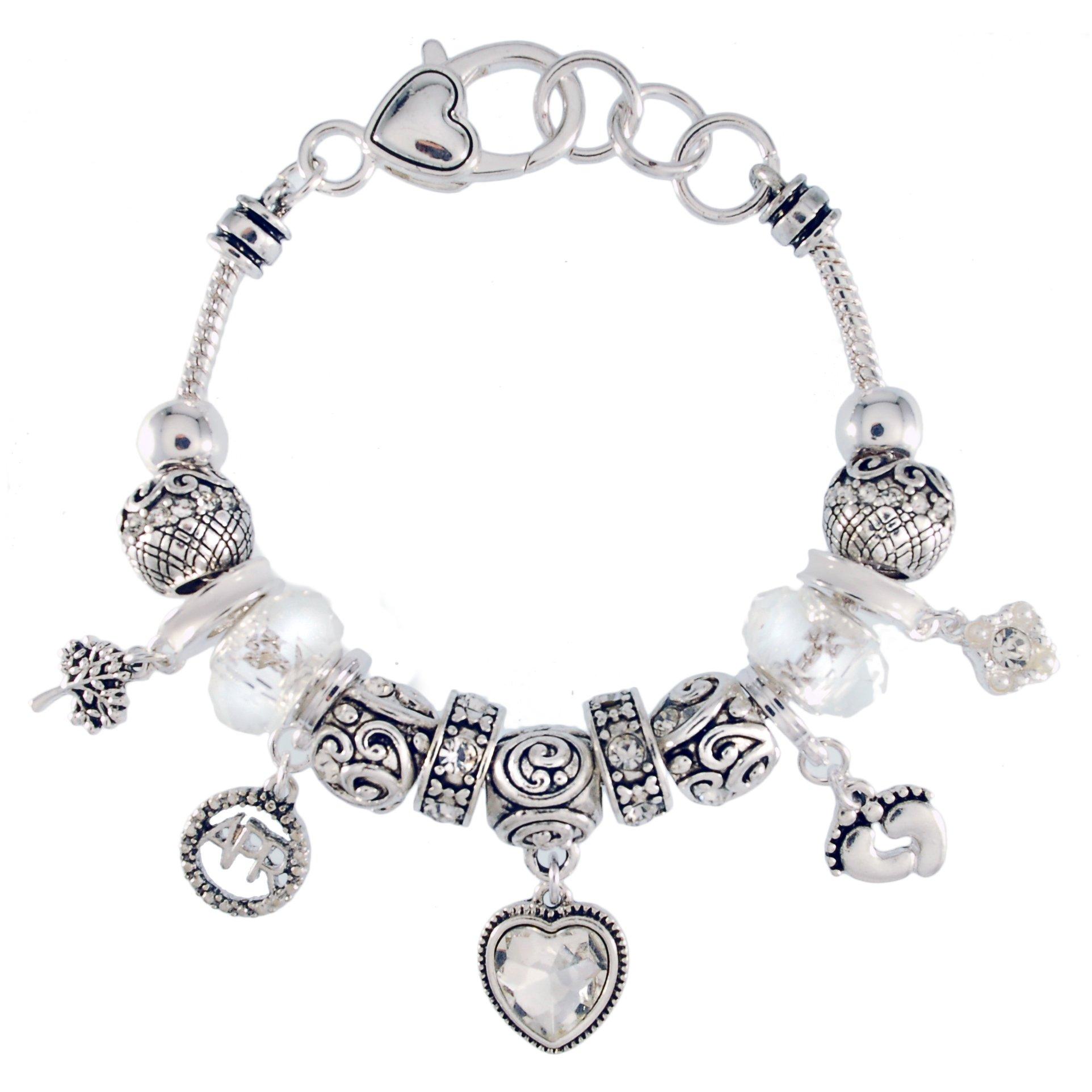 Landau Ambrosia April Birthstone Charm Bracelet