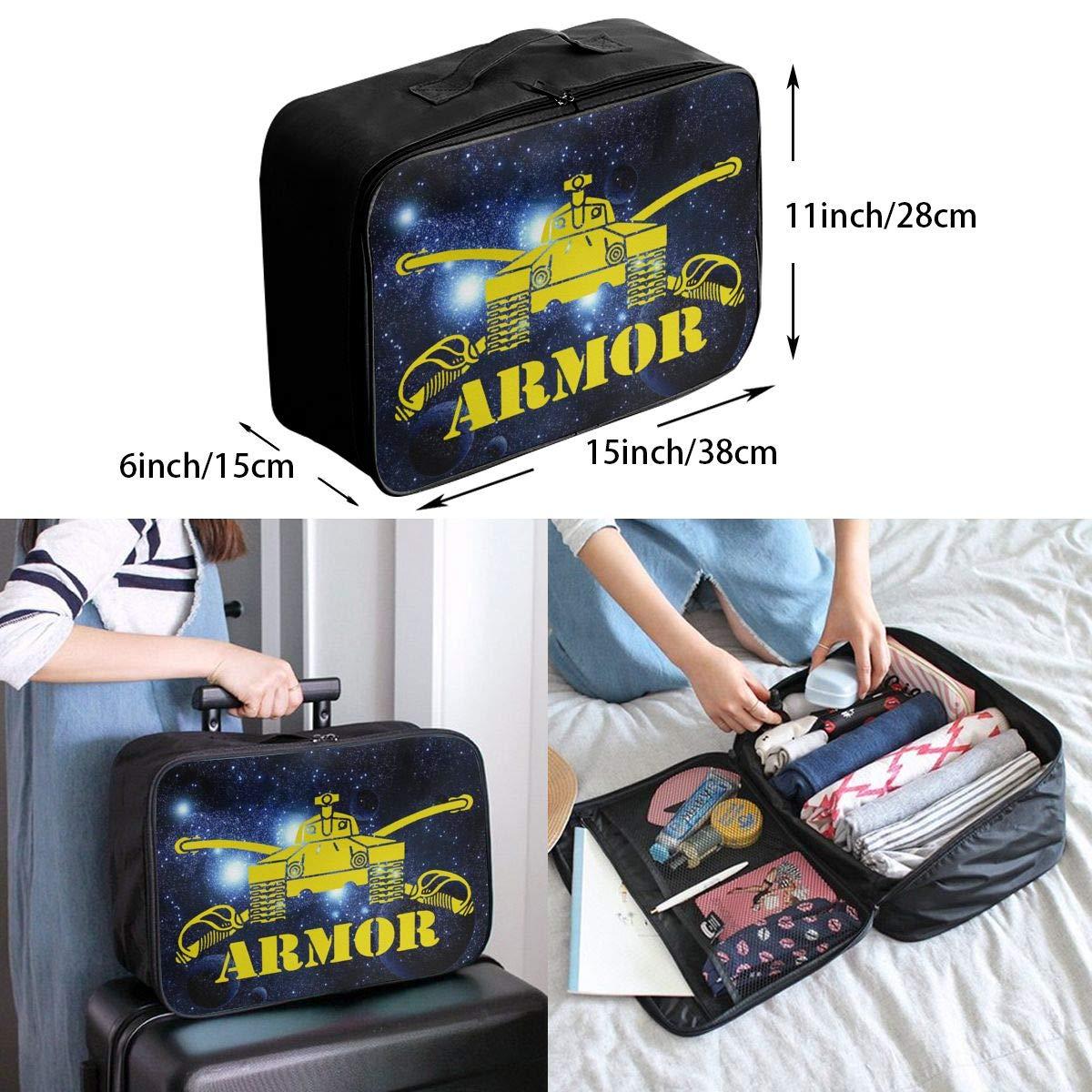 Unisex Travel Duffel Bag Waterproof Fashion Lightweight Large Capacity Portable Luggage Bag Army Armor