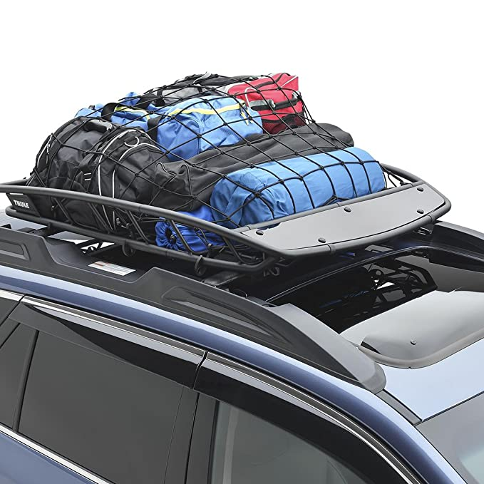 Upgraded Latex Bungee Cord Cargo Net Cargo Carrier and Pickup Truck Bed Kindax 47 x 36 Cargo Net with 12 Big Removable Hooks Stretches to 80 x 60 for The Secure Carrying on Roof Luggage Rack