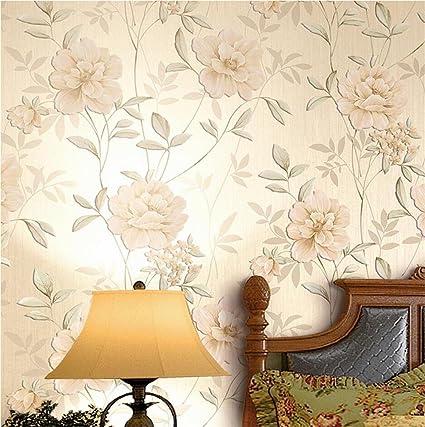 HM Papel pintado moderno patrón floral minimalista 3D fondo de pantalla en relieve para la sala