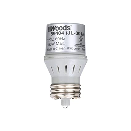 Woods 59404WD Indoor Light Sensor Socket with Photocell - Outdoor Light Sensor Automatic Socket - Amazon.com