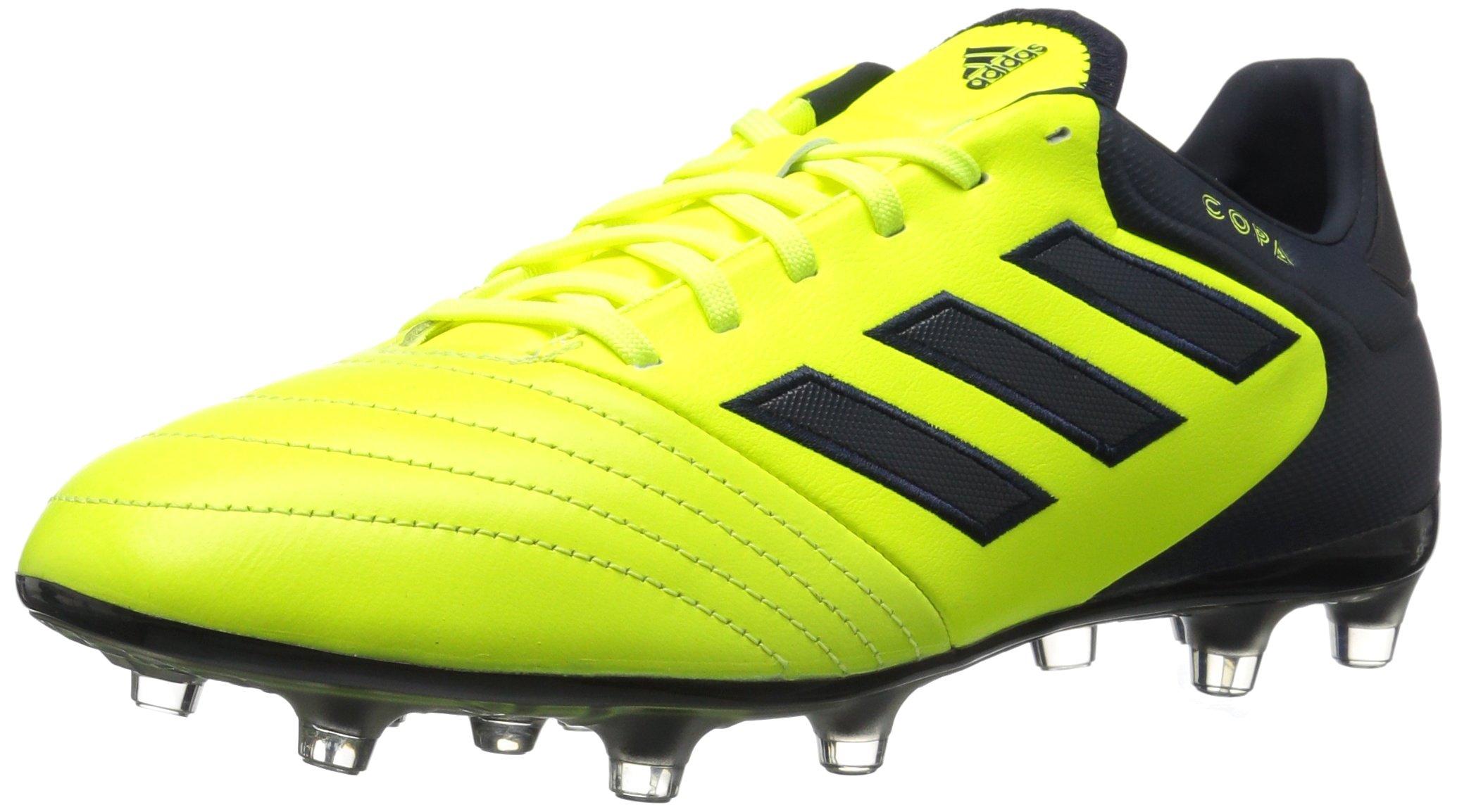 adidas Men's Copa 17.2 Firm Ground Cleats Soccer Shoe, Solar Yellow/Legend Ink/Legend Ink, (11 M US)