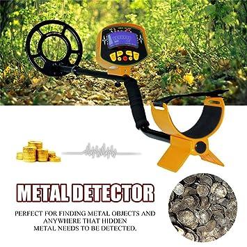 Detector de metales subterráneos profundos Pantalla LCD de alta sensibilidad Hunter Finder (Color: Amarillo): Amazon.es: Hogar