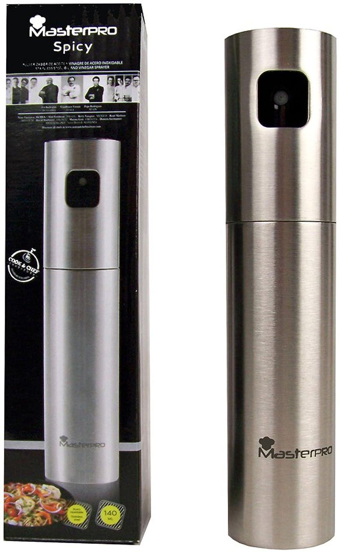 Vetrineinrete® Spruzzatore dosatore spray per olio e aceto in acciaio inox 140 ml erogatore da tavola con nebulizzatore utile in cucina per condire A4