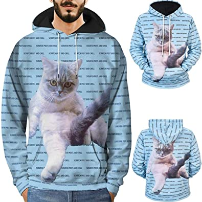 14dbceef56323 Amazon.com: Amiley mens hoodies,Unisex 3D Creative Cat Graphic Hoodies  Pullover,Autumn Winter Hoodies for Men: Shoes