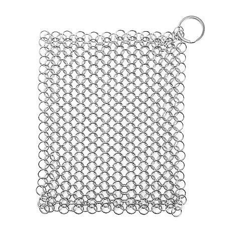COOK JOY Jaula de tela rascadora de acero inoxidable Ideal para sartenes de limpieza Sartenes y