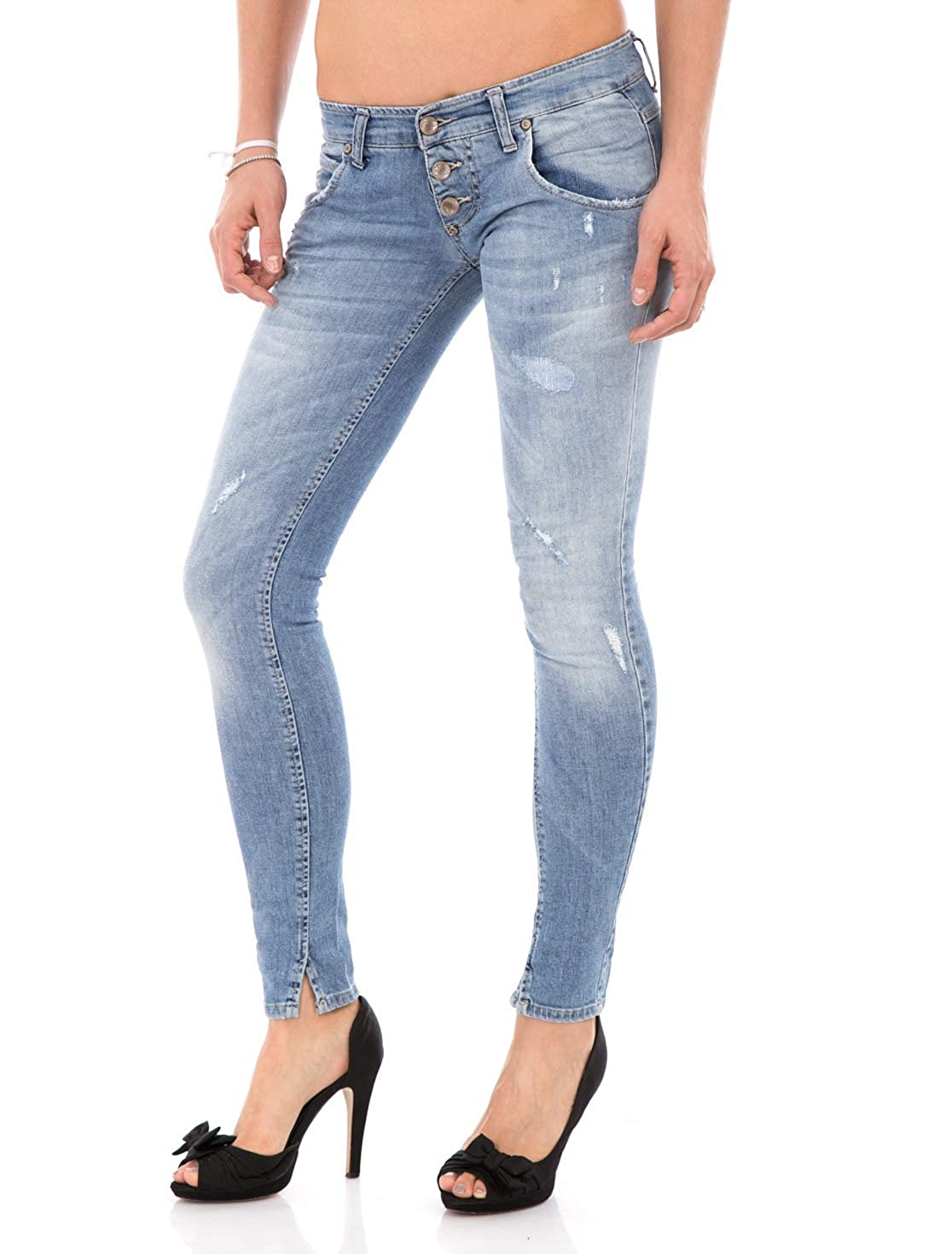 Please Jeans Donna P19 Skinny Stretch STRAPPATO Slim