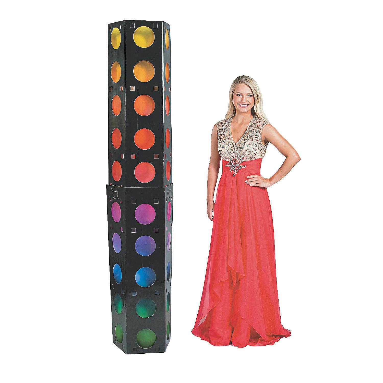 3D Dance Party Lights Column Cardboard Stand-Up