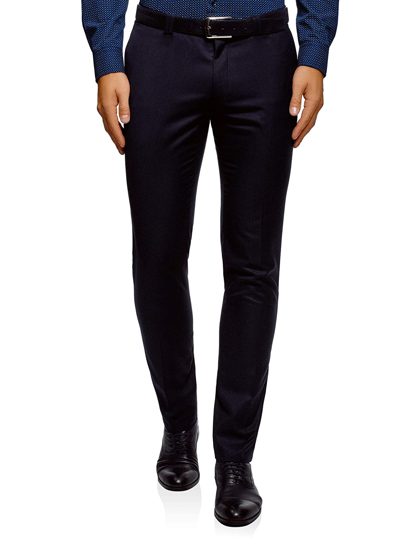 TALLA ES 38 (S). oodji Ultra Hombre Pantalones Clásicos de Tiro Medio