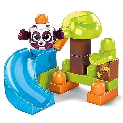 Mega Bloks First Builders Peek A Blocks Launch N' Slide Forest Panda: Toys & Games