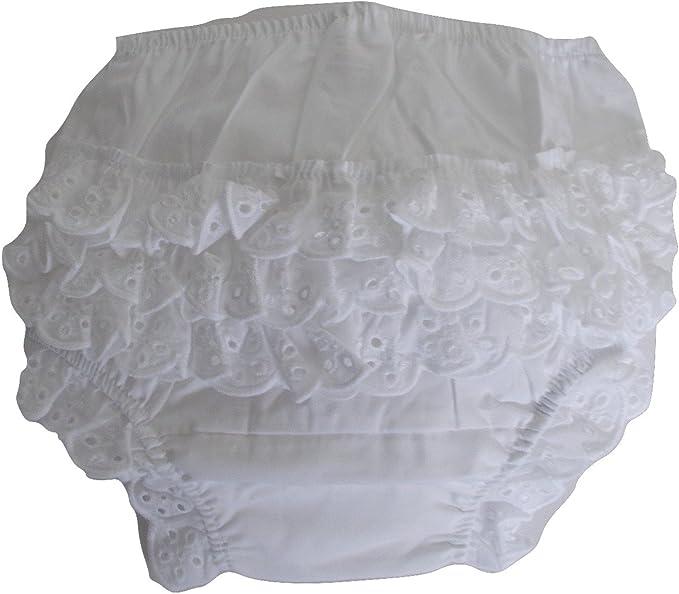 Mutandina elegante da neonata in cotone, con balza posteriore,  copri-pannolino con volant: Amazon.it: Abbigliamento