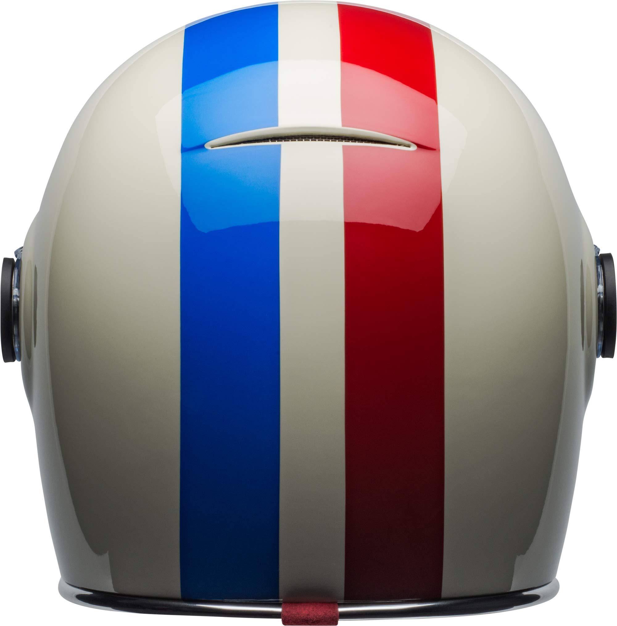 Bell Bullitt Helmet - Command (X-SMALL) (GLOSS VINTAGE WHITE/RED/BLUE) by Bell (Image #4)
