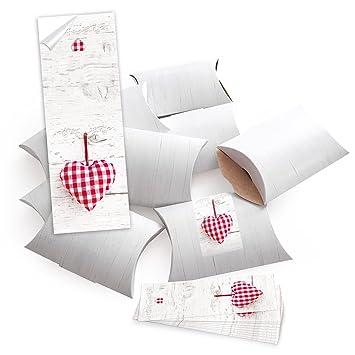 25 pequeñas cajas de regalo cajas regalo Cajas, color blanco (14,5 x