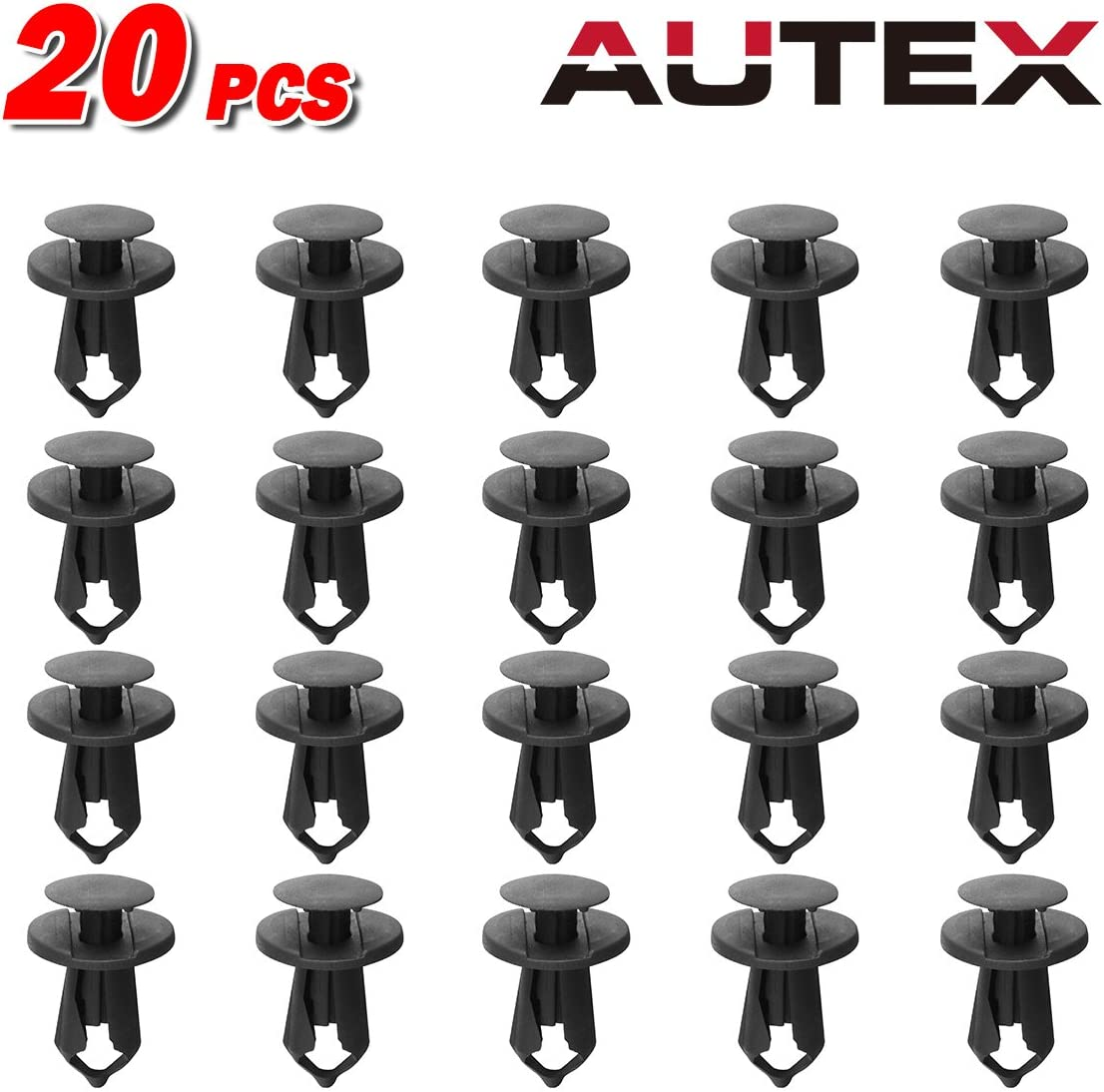 20pcs 8mm Fender Rivet Fastener Clips Push Type Retainer For Ford