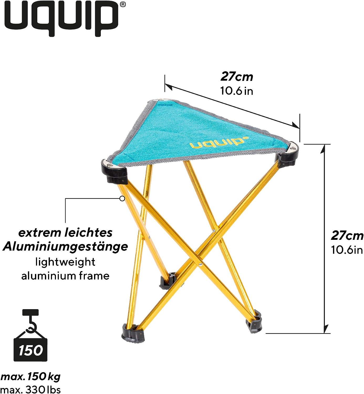 Uquip Trinity M - Tripode Taburete Plegable para Acampar y Deportes - Oro/Azul