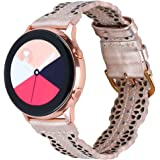 Glebo Chic Leather Compatible with Galaxy Watch 3 Band 41mm/Samsung Active 2 Watch Band 40mm 44mm/Active Watch 40mm…