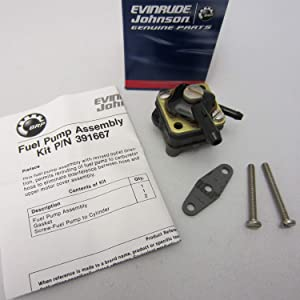 Johnson/Evinrude/OMC/BRP New OEM Fuel Pump Kit 391667, 0391667