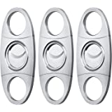 Cigar Cutter Guillotine, Stainless Steel Double Blade Cigar Clippers, 3 Packs