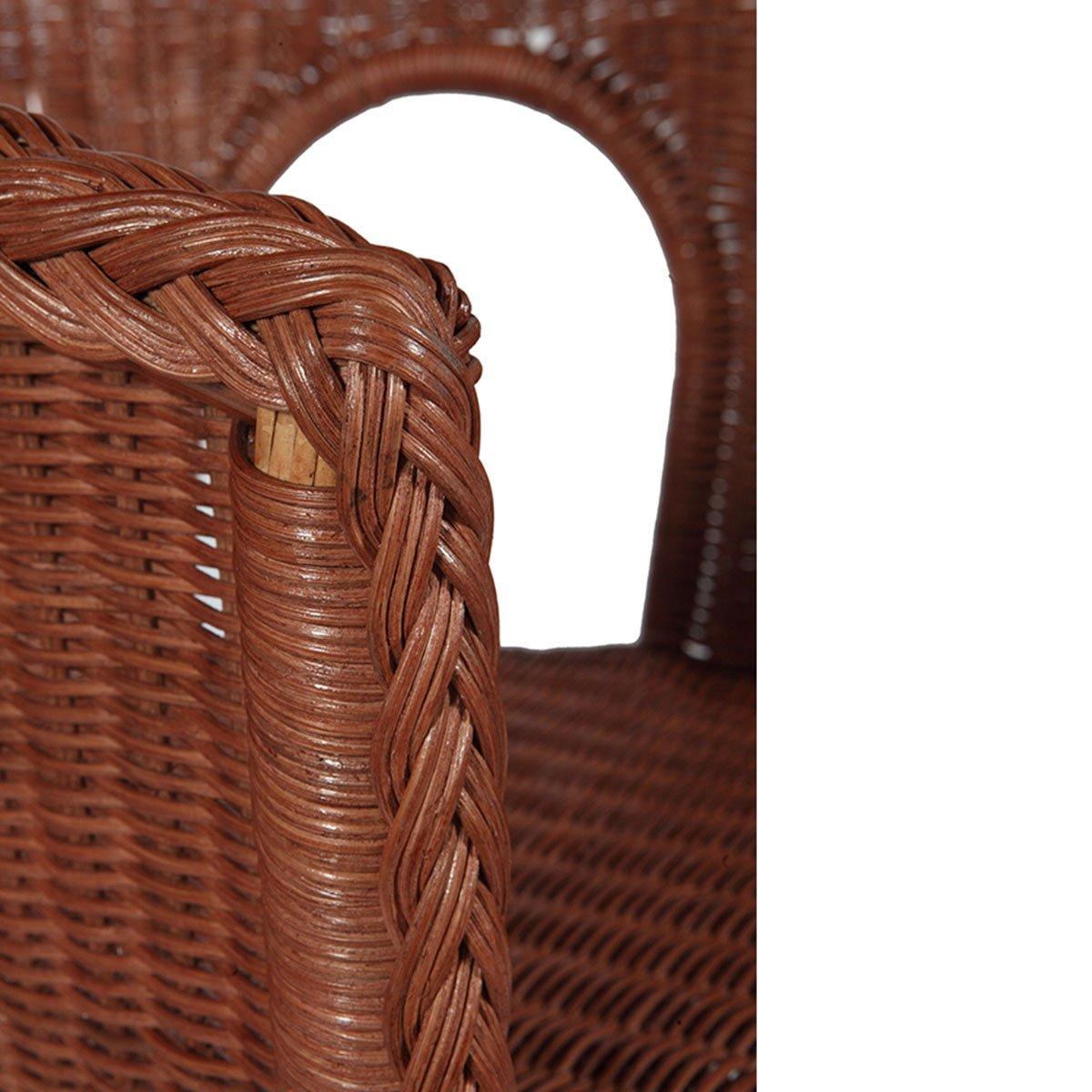 Rotin Design REBAJAS : -49% Lote de 2 sillones de mimbre Chris coñac de color marron