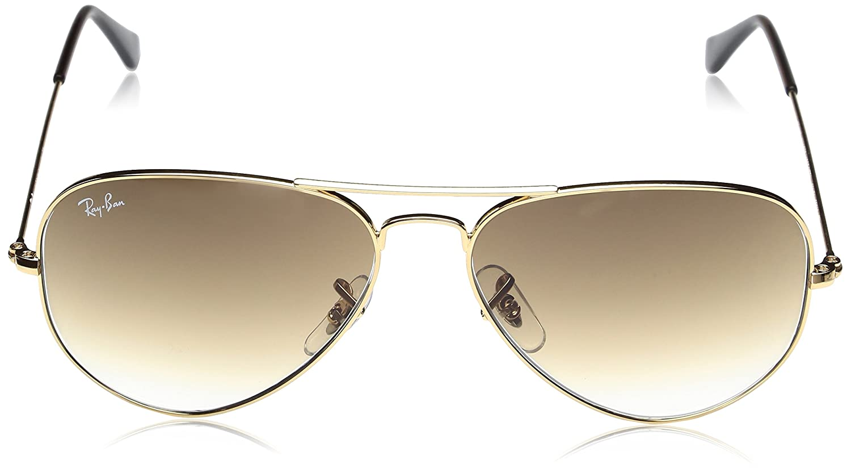 39b966da7144f2 Ray Ban Sonnenbrille Large Metal Aviator RB 3025 Gold (W3276)  Amazon.de   Bekleidung
